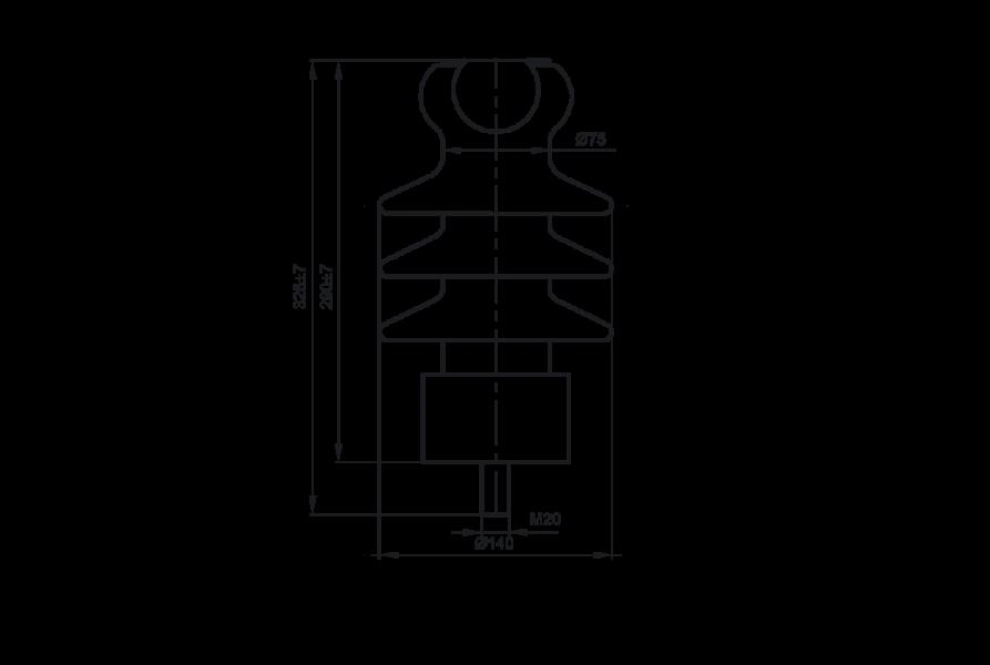 Изоляторы опорные линейные фарфоровые типа ОЛФ на напряжение 6-10 кВ