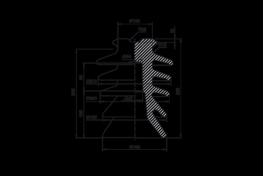 Изоляторы линейные штыревые фарфоровые типа ШФ 35В