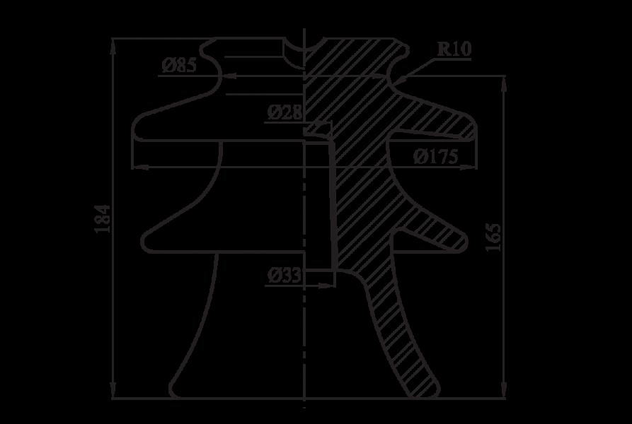 Изоляторы линейные штыревые фарфоровые  ШФ-20Г