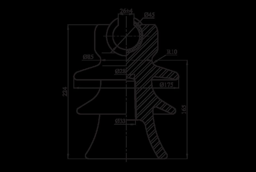 Изоляторы линейные штыревые фарфоровые ШФ-20Г1