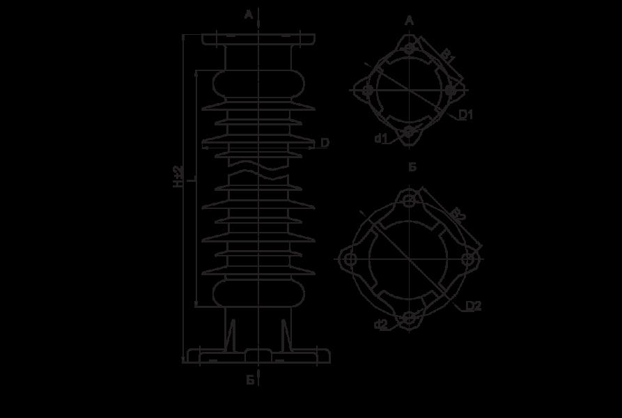 Изоляторы опорные полимерные типа ОСК 8-150 на напряжение 150 кВ