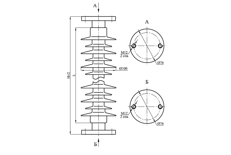 Изоляторы опорные полимерные типа ОСК 3-35 на напряжение 35 кВ