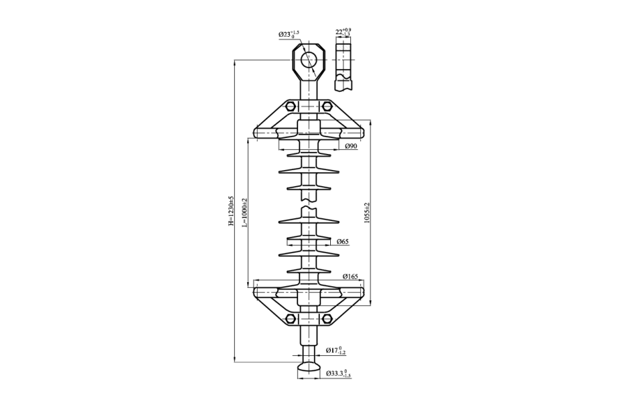Изоляторы линейные подвесные полимерные типа ЛК 120/110-И