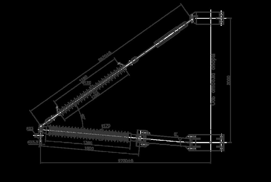 Траверсы изолирующие полимерные фиксированные на напряжение 110 кВ
